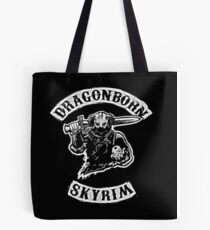 Skyrim - Sons of Anarchy Dragonborn Edit Tote Bag