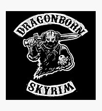 Skyrim - Sons of Anarchy Dragonborn Edit Photographic Print