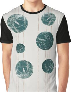 Marble Circles with Golden Stripes Graphic T-Shirt