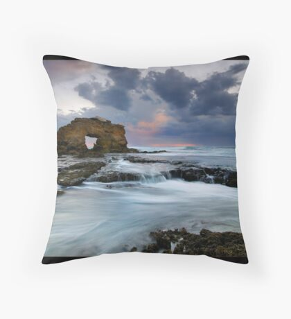 Rock Arch Tide Throw Pillow