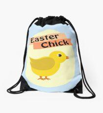 Cute Yellow Easter Chick Drawstring Bag