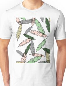 Colored Feather Print Unisex T-Shirt