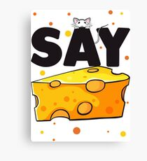 say cheese :D Canvas Print