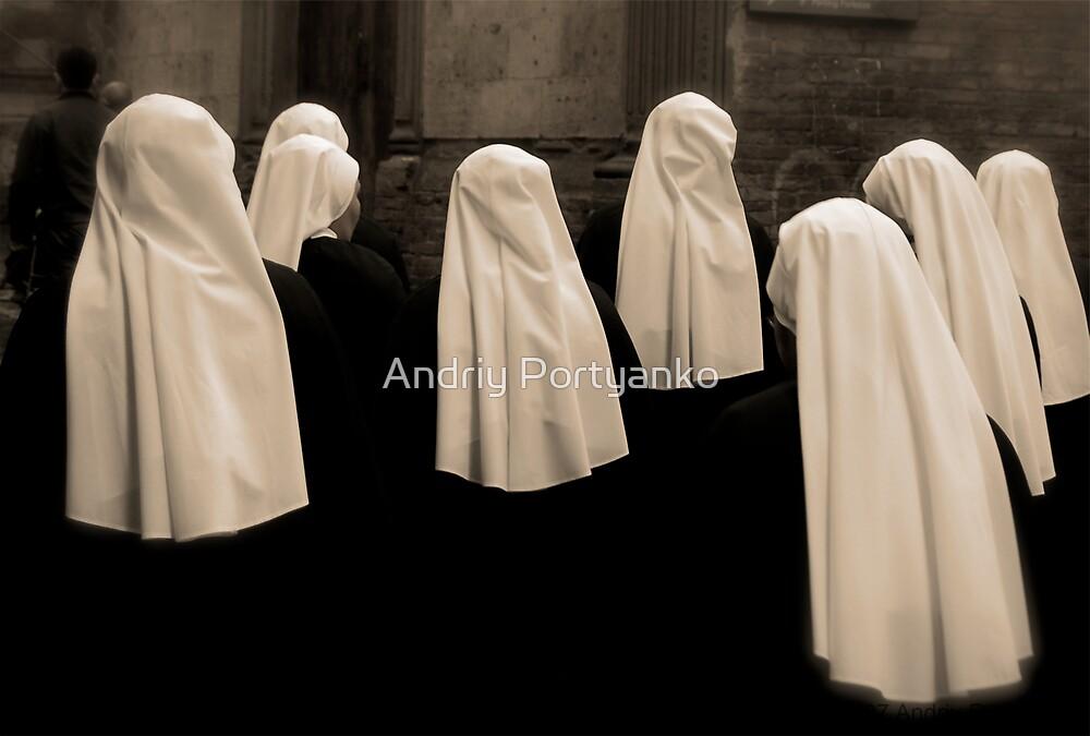 Nuns by Andriy Portyanko