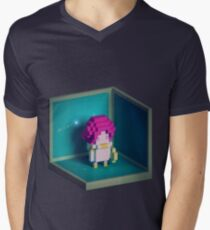 Jester Voxel Mens V-Neck T-Shirt