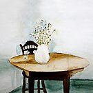 Watercolour Daisy loving  by maiboo
