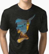 Peter Pan Over London  Tri-blend T-Shirt