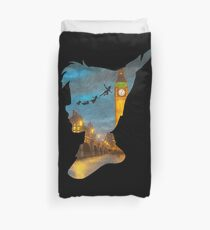 Peter Pan Over London  Duvet Cover