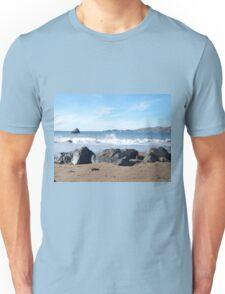 From Behind Beach Rocks Unisex T-Shirt