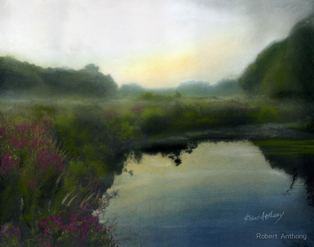 Pond at Dawn by Robert  Anthony
