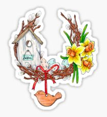 Easter wreath Sticker