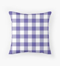 Bright Purple / Blue-Violet Plaid Pattern Throw Pillow
