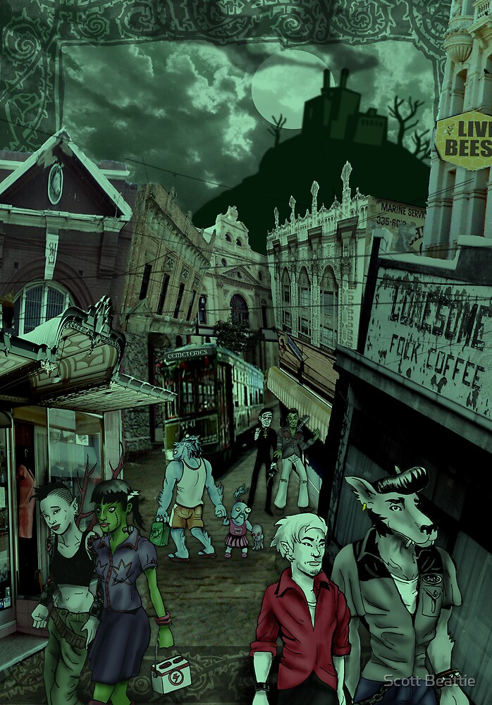 Village Street by Scott Beattie