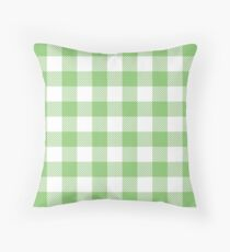 Light Green / Pistachio Plaid Pattern Throw Pillow