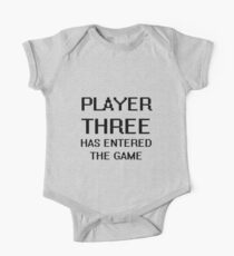 Player Three Has Entered the Game New Baby One Piece - Short Sleeve