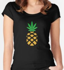 Pineapple Weed Shirt and Merchandise Women's Fitted Scoop T-Shirt