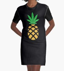 Pineapple Weed Shirt and Merchandise Graphic T-Shirt Dress