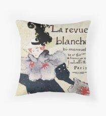 Art nouveau Toulouse Lautrec magazine advertising Throw Pillow