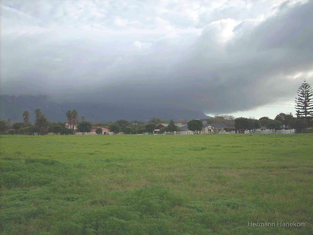 Winter storm brewing over the southern suburbs, Cape Town, South Africa by Hermann Hanekom