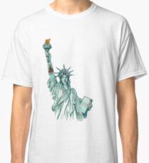 Tattoo Lady Liberty Classic T-Shirt