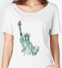 Tattoo Lady Liberty Women's Relaxed Fit T-Shirt