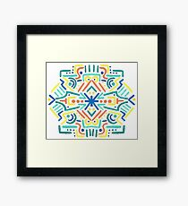 Hand-painted Mirror Abstract Design Framed Print