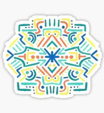 Hand-painted Mirror Abstract Design Sticker
