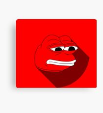 Pepe Material Red Fanart Canvas Print