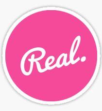 Real Emblem in Pink Sticker