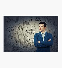 Thoughtfully look businessman Photographic Print