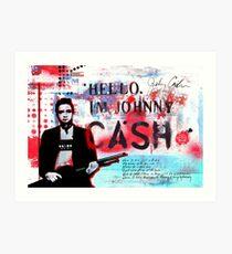 Hello I'm Johnny Cash #2 Art Print
