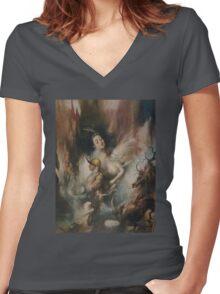 Revelation art Women's Fitted V-Neck T-Shirt