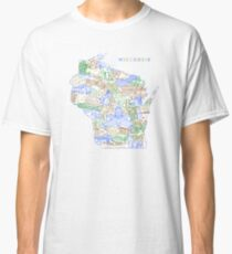 "Wisconsin Landmark Collage Art ""Earth"" Classic T-Shirt"