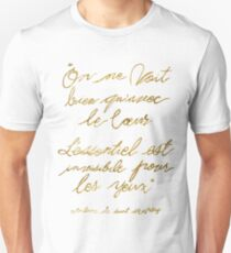 The Little Prince Quote 002, gold Unisex T-Shirt