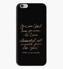The Little Prince Quote 002, gold iPhone Case