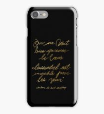 The Little Prince Quote 002, gold iPhone Case/Skin