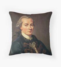 Kant throw pillow Throw Pillow