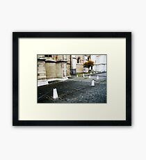 lonely tree in townscape Framed Print
