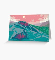 Tillvaro Pixel Art Landscape Greeting Card