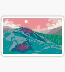 Tillvaro Pixel Art Landscape Sticker