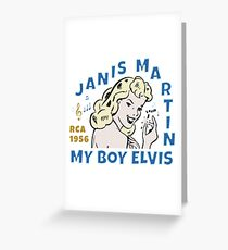 JANIS MARTIN ROCKABILLY Greeting Card