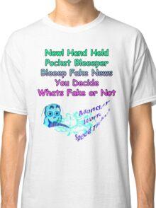 Funny Spring T Shirt green Fake News Classic T-Shirt