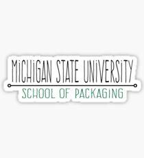 MSU School of Packaging Sticker