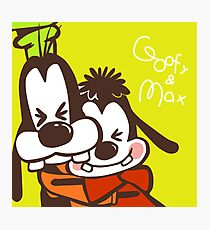 goofy and max Photographic Print