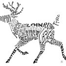 Deer Typogram by Ellen Marcus
