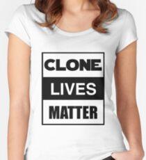 Clone Lives Matter (box) Women's Fitted Scoop T-Shirt