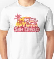 Anchorman - You Stay Classy! San Diego Distressed Unisex T-Shirt