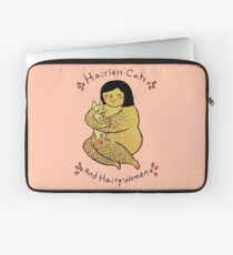 Hairless Cats and Hairy Women  Laptop Sleeve