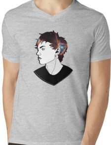 Girl. Mens V-Neck T-Shirt