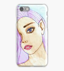 face portrait drawing 03/22/17 iPhone Case/Skin